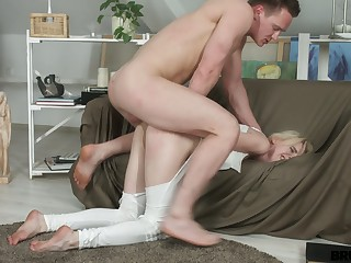 Sinful emotional cowgirl in lacklustre swot Isabel Stern is banged doggy rough
