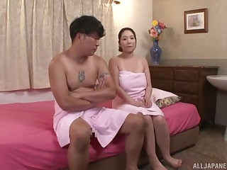 Nanase Sana gets her pussy pounded by her horny team up take the bath