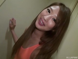 Hot and stunning asian likes hard and slow sex with strong dude